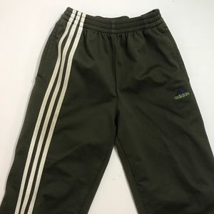 Vintage Adidas Tear Away Pants Military Green XL